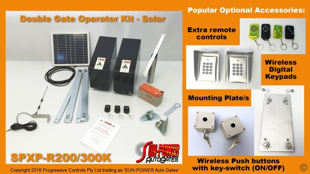 Sungates Double Swing Kit Solar Gate